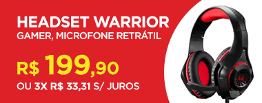 Headset gamer Warrior