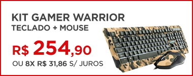 Teclado e mouse gamer Warrior